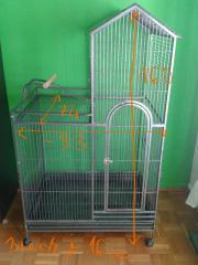 Vogelkäfig, Papageien-, Sittich