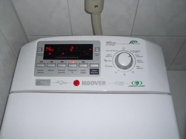 waschmaschine toplader hoover 1400 u min mit garantie in n rnberg waschmaschinen kaufen und. Black Bedroom Furniture Sets. Home Design Ideas