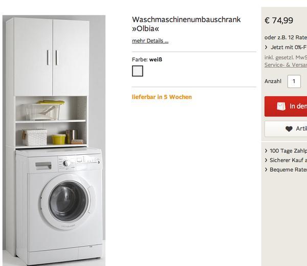 waschmaschinen berbauschrank olbia in bad k nig bad. Black Bedroom Furniture Sets. Home Design Ideas