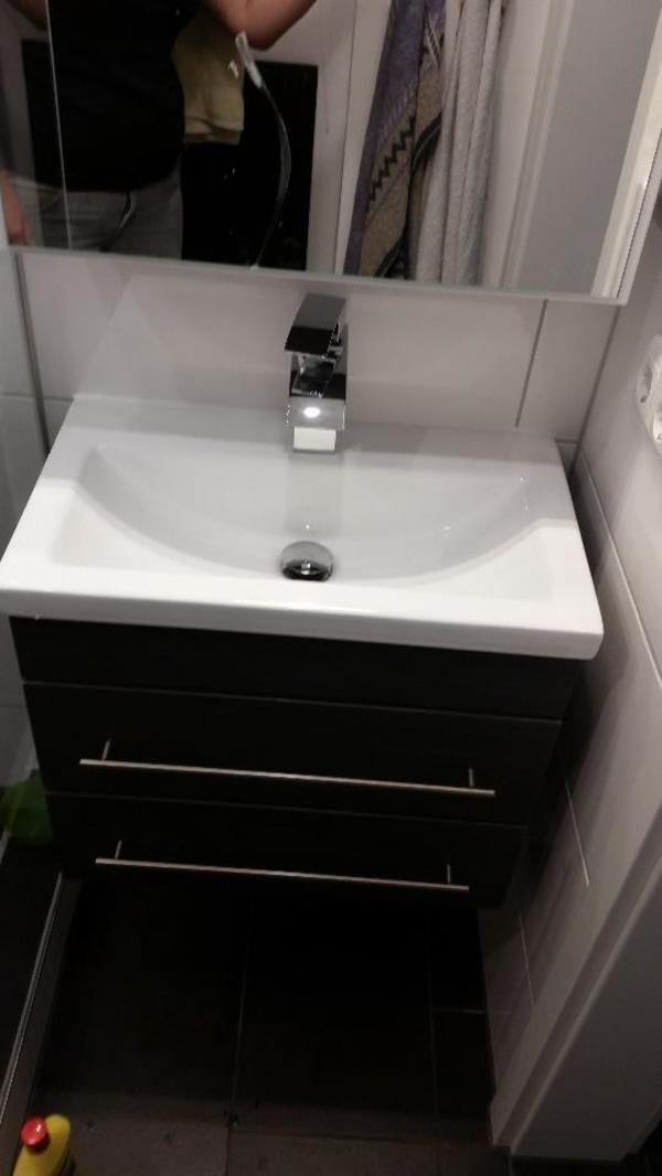 waschtisch mit unterschrank mars600 slimline anthrazit gemasert in grafing bad einrichtung. Black Bedroom Furniture Sets. Home Design Ideas