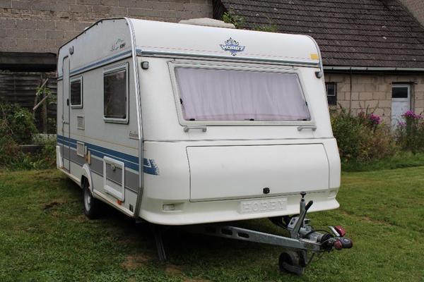 Wohnwagen Hobby 430 Sf Elegance Ez 04 1996 Mit Vorzelt In