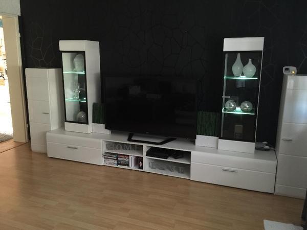 wohnwand hochglanz kleinanzeigen schr nke vitrinen. Black Bedroom Furniture Sets. Home Design Ideas