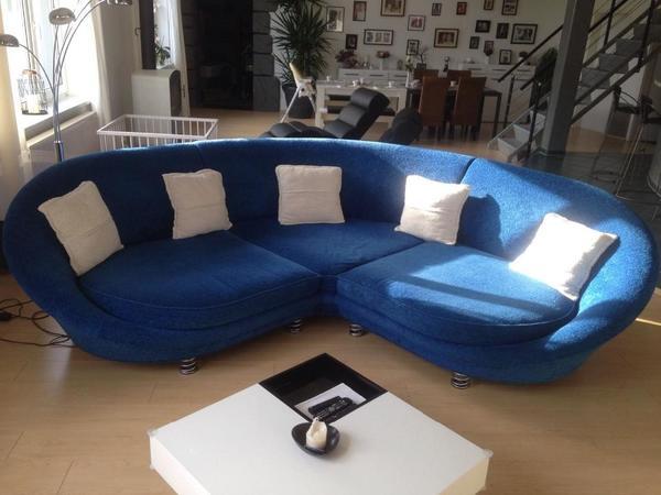 Xxl sofa von bretz farbe blau super zustand in iserlohn for Xxl sessel blau