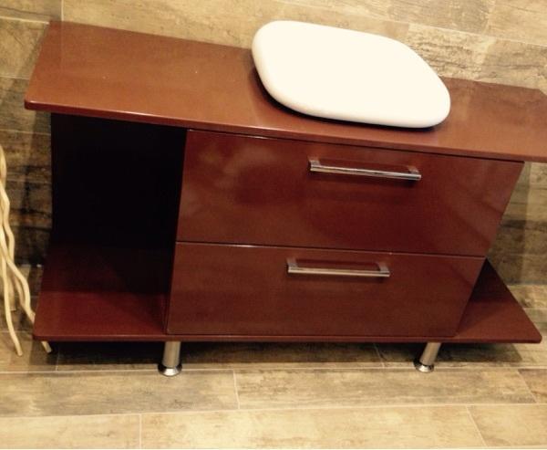xxl waschtisch waschbeckenunterschrank waschtischunterschrank badezimmer unterschrank konsole in. Black Bedroom Furniture Sets. Home Design Ideas