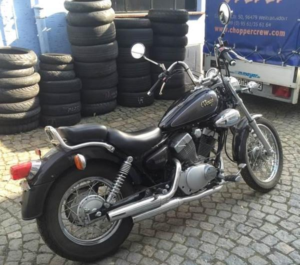 yamaha virago 125 ccm chopper topzustand 13340 km in. Black Bedroom Furniture Sets. Home Design Ideas