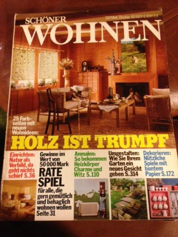 zeitschrifen sch ner wohnen 70er in essen zeitschriften magazine kaufen und verkaufen ber. Black Bedroom Furniture Sets. Home Design Ideas