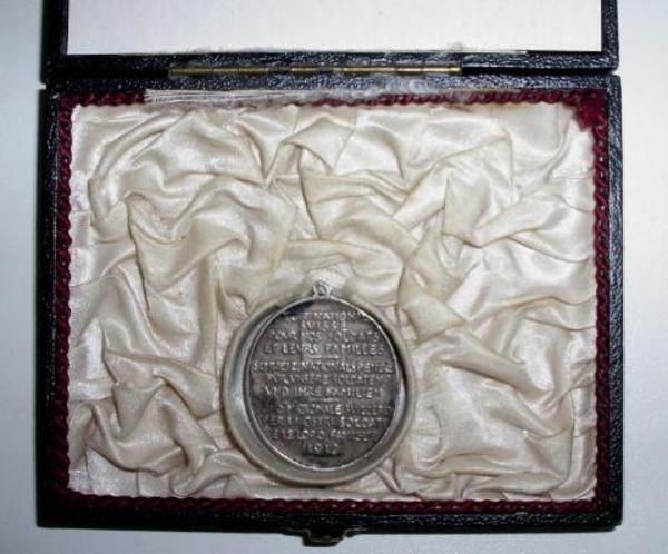 1918 Medaille für die Nationalspende