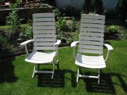 2 Deckchair Gartenstuhl