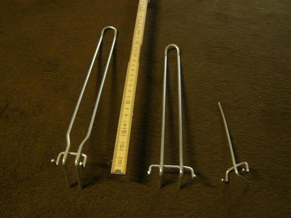 219 Lochblech-Haken Lochrasterplattenhaken Längen 13-30cm