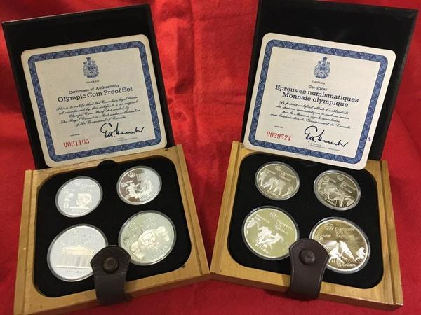 28 Silbermünzen 5 Dollar 10 Dollar Olympiade Montreal 1976 Pp In 7