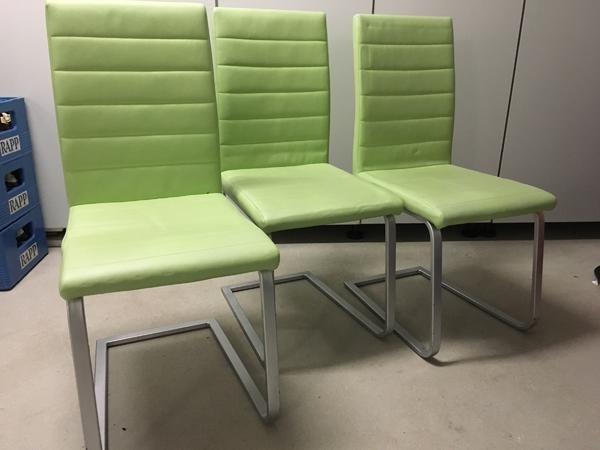 3 freischwinger st hle pistaziengr n silber in ludwigshafen polster sessel couch kaufen und. Black Bedroom Furniture Sets. Home Design Ideas