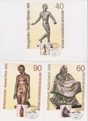 3 Maximumkarten Berlin Skulpturen des