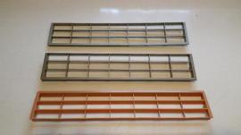 Küchenzeilen, Anbauküchen - 3 Stück Lüftungsgitter aus Kunststoff