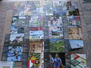 42 x Briefmarkenbroschüren aus dem