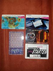5 Telefonkarten im