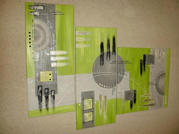acrylbild 3 teilig in hringen dekoartikel kaufen und verkaufen ber private kleinanzeigen. Black Bedroom Furniture Sets. Home Design Ideas