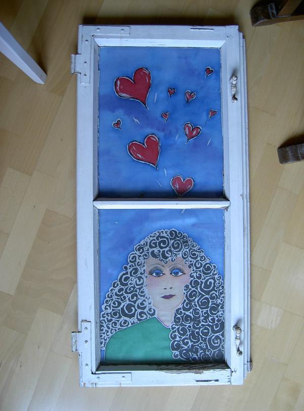 Altes Fenster, Handarbeit » Kunst, Gemälde, Plastik