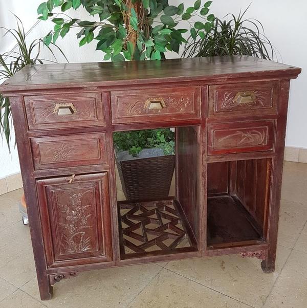 Antiker chinesischer Schrank, Schreibtisch in Viernheim - Schränke ...