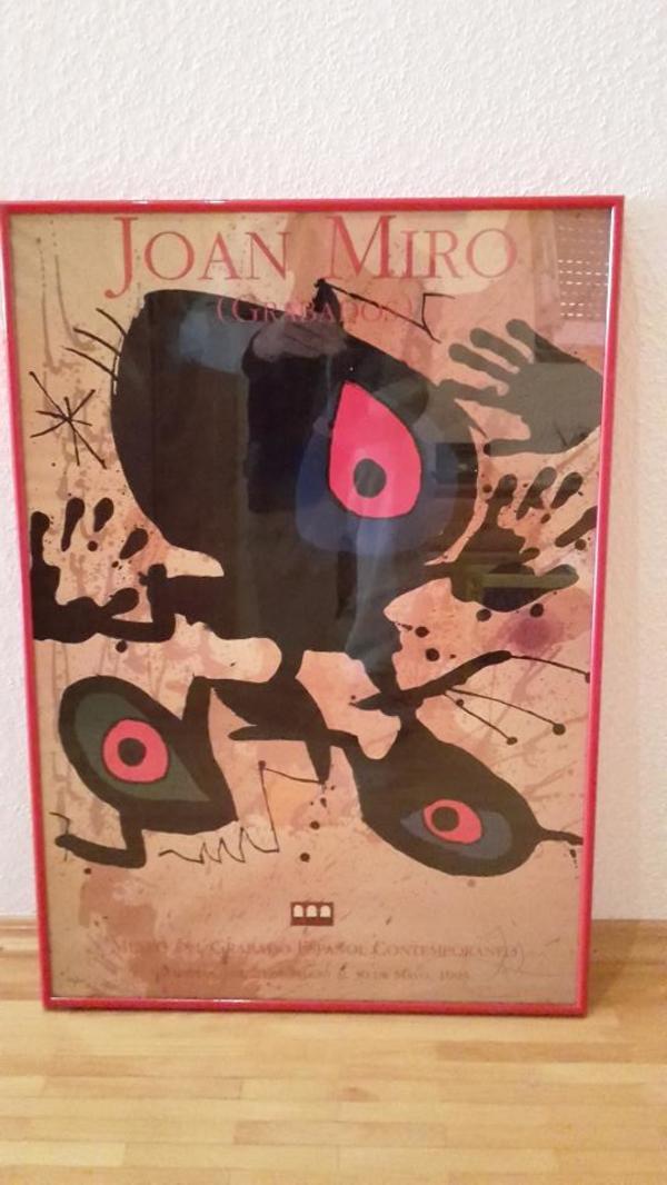 Ausstellungsplakat Miro (gerahmt) in Sandhausen - Kunst, Gemälde ...