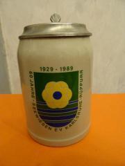 Bierkrug mit Zinndeckel 60 Jahre