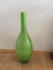 Bodenvase Glas grün