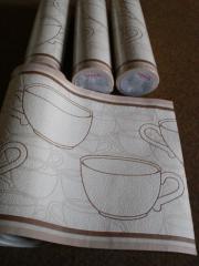 Bordüre Tapete Kaffeetassen Rasch 459814
