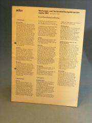 Braun Audio 250 original Manual