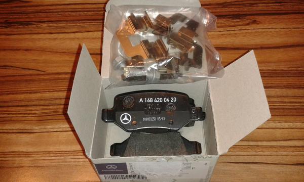 Bremsbeläge hinten für Mercedes A Klasse 170 CDI - Freisbach - Verkaufe vier neue und originale Bremsbeläge für die Mercedes A-Klasse 170 CDI. Sie werden wegen einem Fehlkauf verkauft. Rechnung ist auch noch vorhanden. - Freisbach