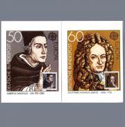 Briefmarken Maximumkarten Leibnitz Albertus Magnus