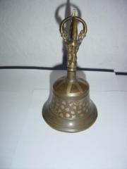 BRONZE Glocke Asiatika Himalaya Götter