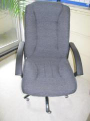Büro-Drehstuhl Bezug grau Sitz- und