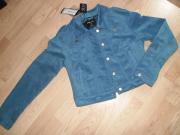 Damen Blau Kurzjacke Jeans Jacke