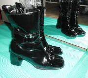 Damen Plateau Lack Stiefel von