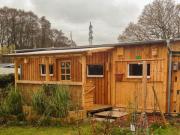 Dauercampingplatz mit Wochenendhaus