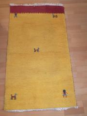 Dekoration Teppich Kurzflor gelb rot