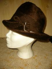 Dunkelbrauner Damen Hut