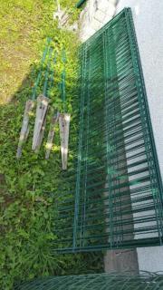 Einstab Gartenzaun grün