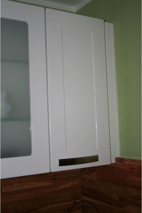 Einzelne Küchenschränke NOBILIA arte Weiß glänzend Regal Wandschrank ...
