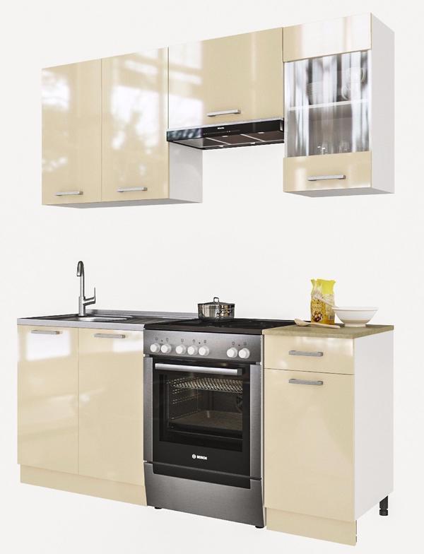 ELDORADO \'Martha-Creamlack\' Küche Küchenzeile 180 cm Einbauküche ...