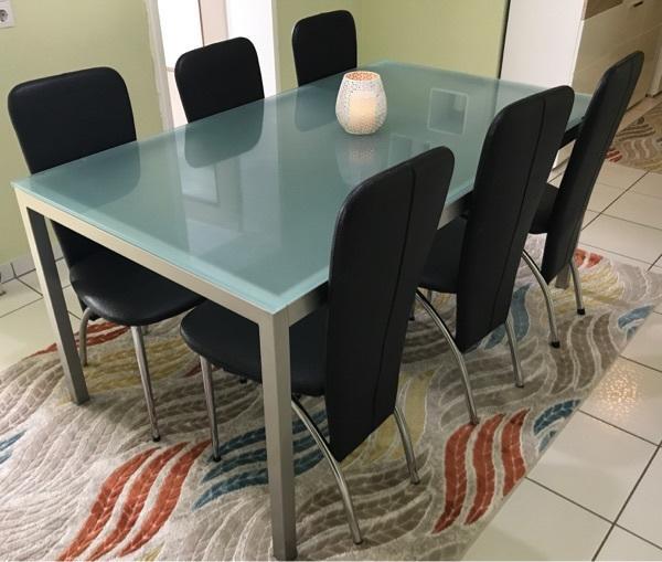 glastisch stuhlen gebraucht kaufen nur 3 st bis 70. Black Bedroom Furniture Sets. Home Design Ideas