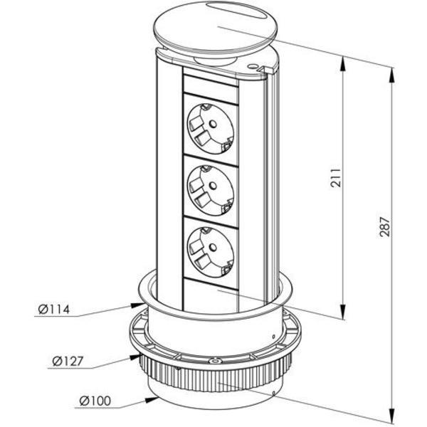 Küchenrollwagen Gebraucht ~ evoline port, steckdose f kücheninsel in bregenz küchenmöbel, schränke kaufen und verkaufen