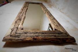 Farmer spiegel rustikaler altholzrahmen - Rustikaler spiegel ...