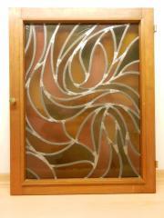 Fenster(-Flügel), bleiverglast