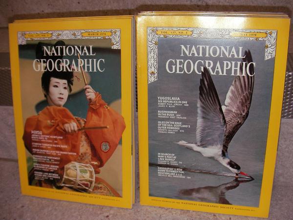 Für Sammler! Zeitschrift NATIONAL Geographic 52 Hefte Jg. 1970/71 Jg ...