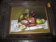 Gemälder Druck und Blumen Bild
