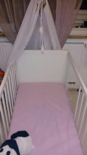 Gitterbett - weiß - 120cm