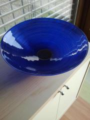 Glasschale blau Durchmesser