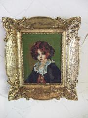 Gobelin-Bild Motiv Porträt feinste Handarbeit