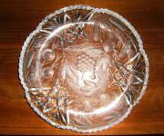Große Kristallglasschale mit aufwändigem Schliff