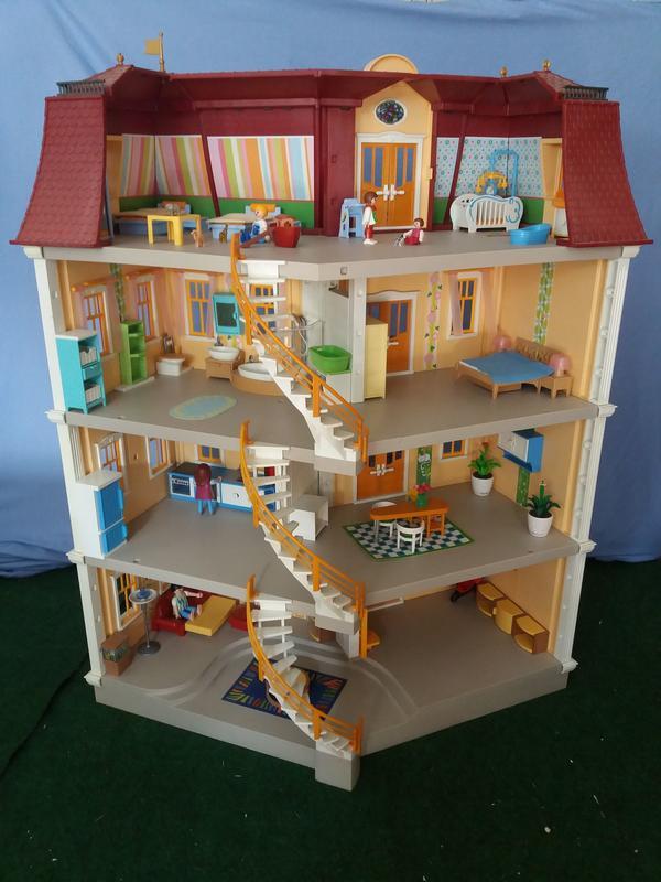 Gro es playmobilhaus mit extra stock und einrichtung in malsch spielzeug lego playmobil - Playmobil esszimmer ...